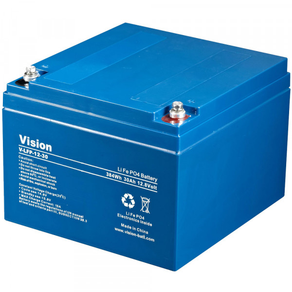 Vision LFP1230 LiFePo4 Akku 12 Volt 30Ah 360Wh