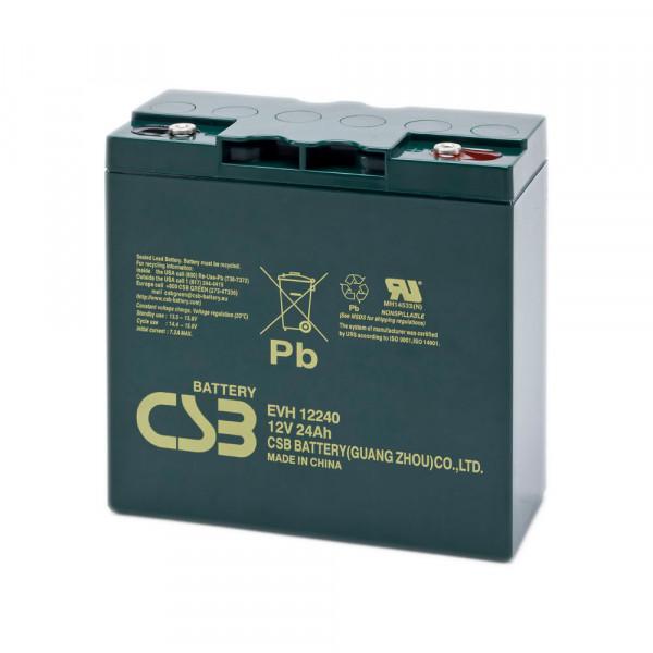 CSB EVH12240 Bleiakku 12V 24Ah, Standby- & Zyklenakku