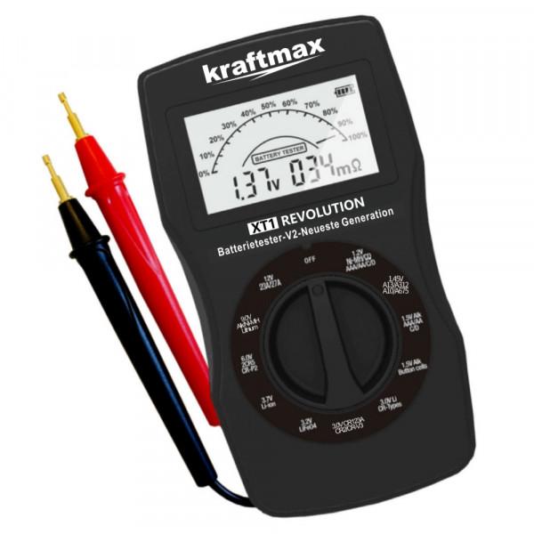 Kraftmax Batterietester XT1 mit Ri-Messung und Restkapazität
