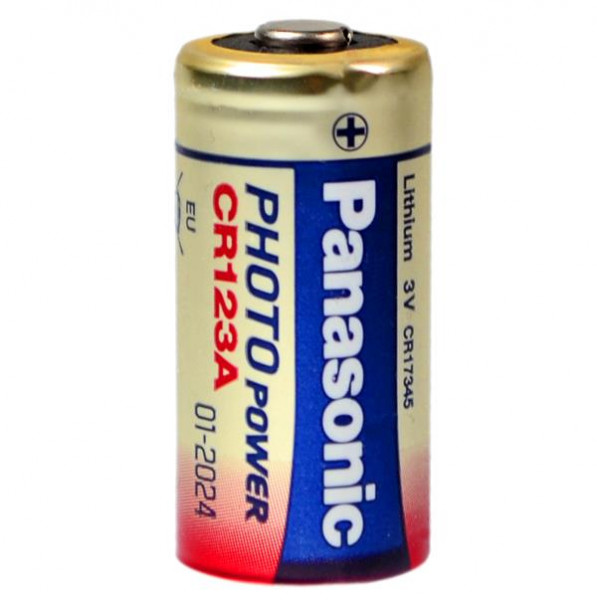 CR123A Batterie Panasonic Photo-Lithium 3V 1450mAh