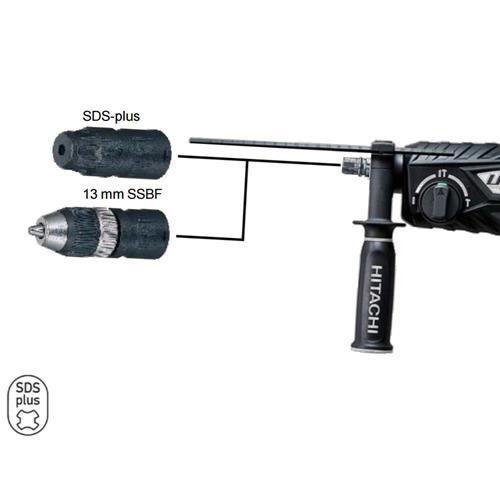 HiKoki DH28PMY Bohrhammer Meisselhammer SDS-plus inkl. Wechselfutter