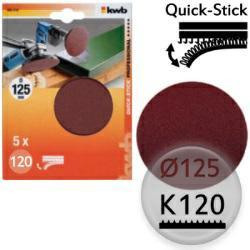 K120 Schleifscheiben Ø 125m, Quick-Stick - für Holz, Metall, Kunststoff