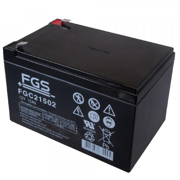 FGS FGC21502 Zyklen-Type Bleiakku 12 Volt 15 Ah mit 6,3mm Faston