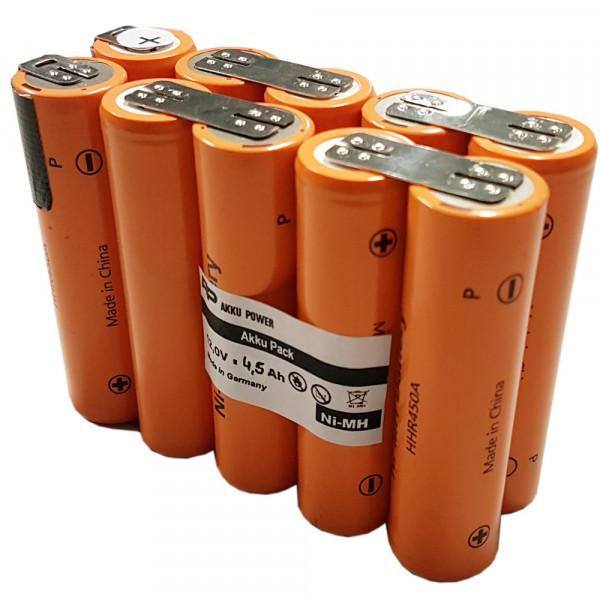 Einbau Akkupack mit 12 Volt, 4500mAh NiMH mit Panasonic HHR450A