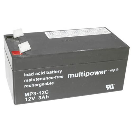 Multipower MP3-12C Bleiakku Zyklentyp 12,0Volt 3,0Ah mit 6,3mm Steckanschlüssen
