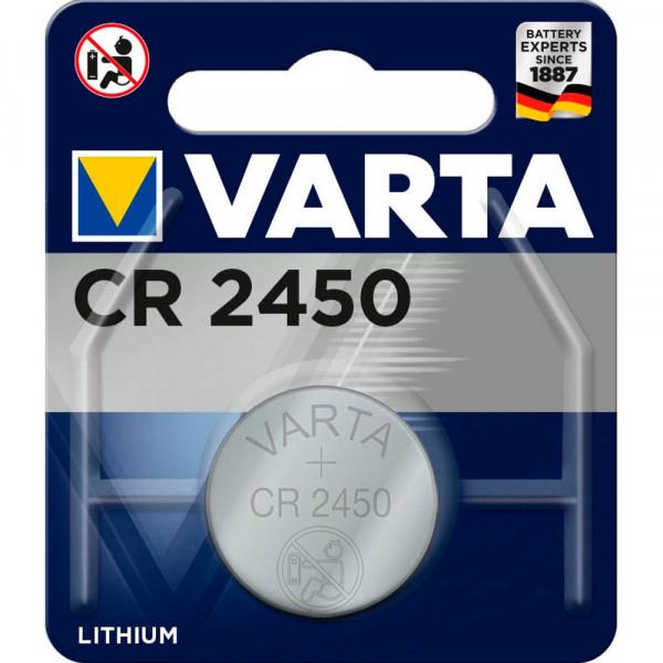 VARTA Lithium-Knopfzelle CR2450 3,0Volt 560mAh im Blister