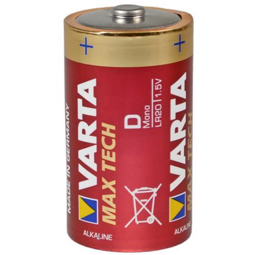 Varta LR20 4720 Max Tech Mono D Batterie - 2er Blister