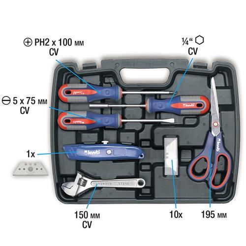 Werkzeugkoffer 40tlg von KWB (370720) im Kunststoffkoffer