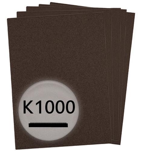 K1000 Schleifpapier in 10 Bögen, 230x280mm - für Lack und Auto, wasserfest