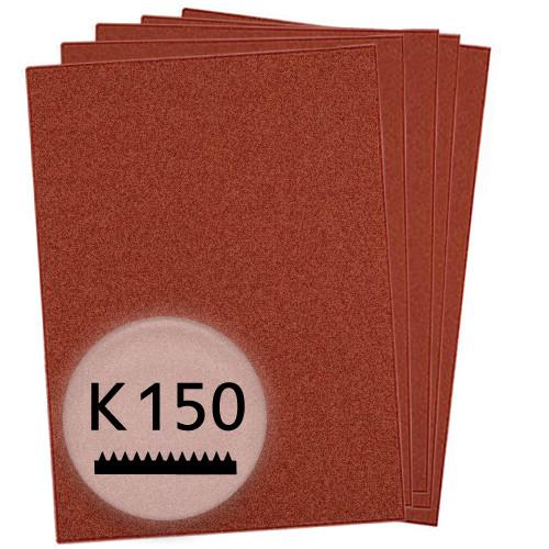 K150 Schleifpapier in 10 Bögen, 230x280mm - für Holz und Metall