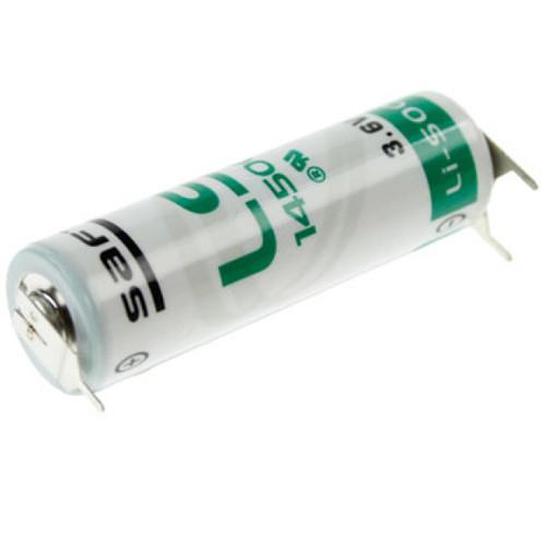 Saft Lithium Batterie LS 14500 Mignon 3,6Volt AA mit 3er Print Anschlüssen