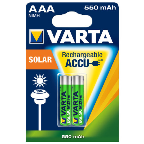 Varta AAA Micro Akkus 1,2V für Solarleuchten 56733 (2 Stück)