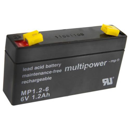 MultiPower Bleiakku MP1.2-6 mit 6V 1,2Ah mit 4,8mm Steckanschlüssen