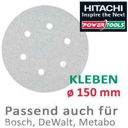HiKoki Schleifpapier SP f. Kleber Exzenterschleifer ø150 K120