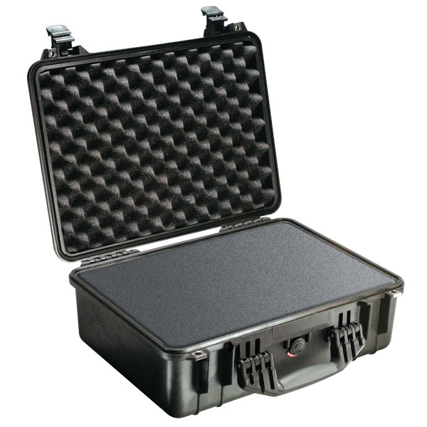 Peli 1520EU Schutzkoffer, Case schwarz mit Würfelschaum
