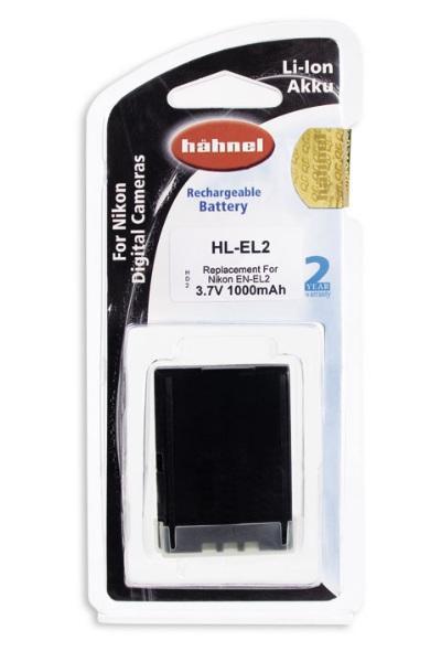 Hähnel Akku passend für Nikon EN-EL2 3,7Volt 1.000mAh Li-Ion (kein Original)