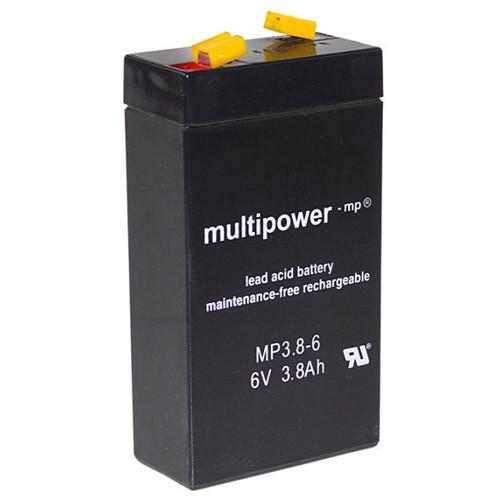 MultiPower Bleiakku MP3.8-6 6,0Volt 3,8Ah mit 4,8mm Steckanschlüssen
