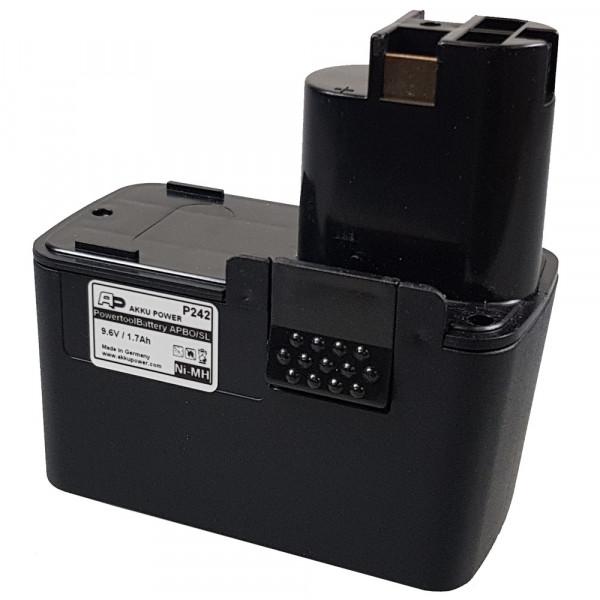 Werkzeug-Akku passend für Bosch 2 607 335 072 mit 9,6V 1,7Ah NiMH (P242)