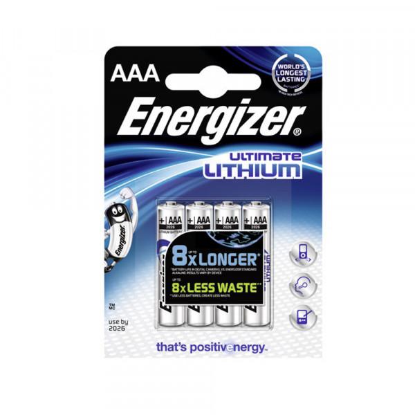Energizer L92 1,5V Lithium Ultimate Batterie AAA Micro 4-er Blister
