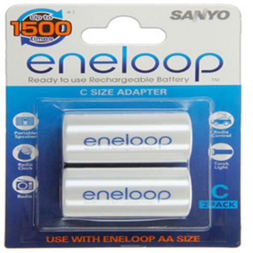 Panasonic Eneloop Adapter Adapter AA auf Baby C - 2er-Blister