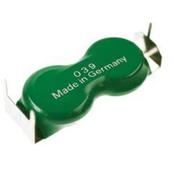 Varta Knopfzellenakku 2/V80H Flatpack 2,4Volt 80mAh NiMH mit 3er Printanschlüssen
