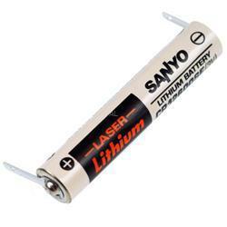 SANYO/FDK CR12600SE Laser Lithium Batterie 3,0Volt mit Lötfahne in U-Form