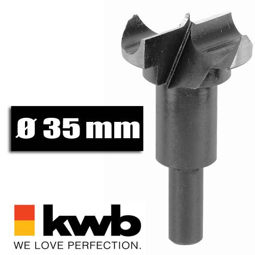 Scharnierlochbohrer Ø 35 mm für Bohrmaschinen u. Akkuschrauber