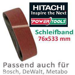 HiKoki Schleifpapier Schleifband 76x533mm K120
