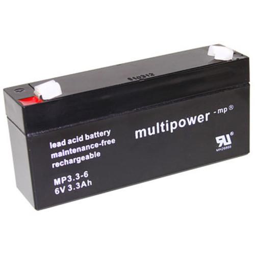 Multipower Bleiakku MP3.3-6 6,0Volt 3,3Ah mit 4,8mm Steckanschlüssen