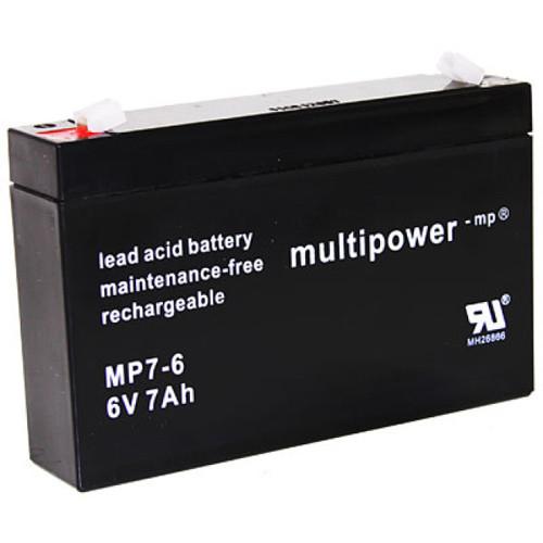 Multipower Bleiakku MP7-6 6V 7Ah Faston 4,8mm