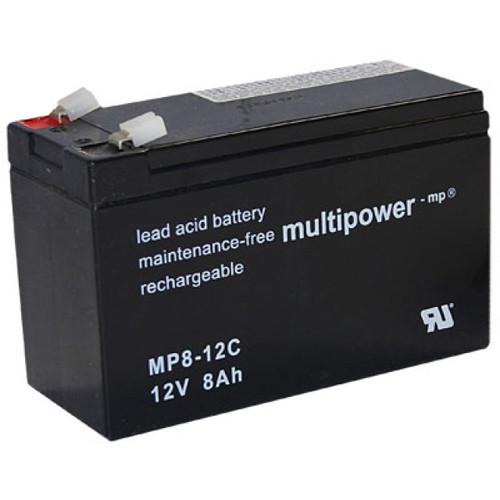 Multipower MP8-12C Bleiakku Zyklentyp 12,0Volt 8,0Ah mit 6,3mm Steckanschlüssen