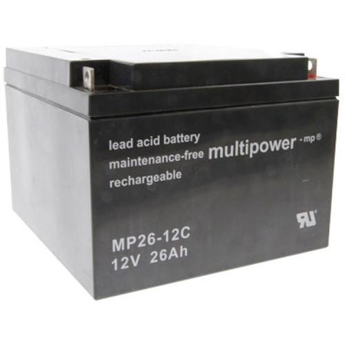 MultiPower Bleiakku MP26-12C Zyklen-Type 12,0Volt 26,0Ah mit M6-Schraubanschlüssen