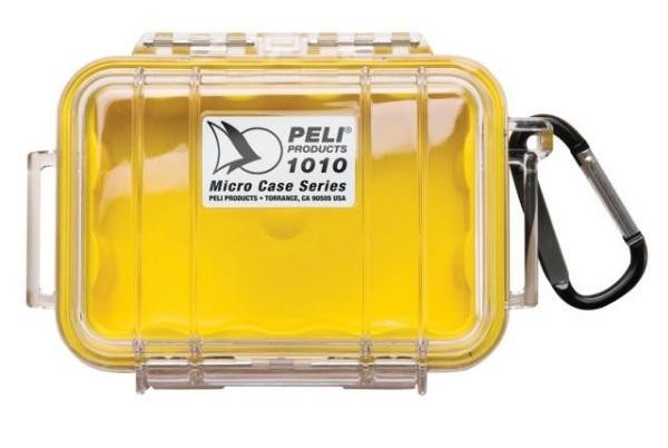 PELI 1010 Schutzkoffer, Micro Case gelb/transparent