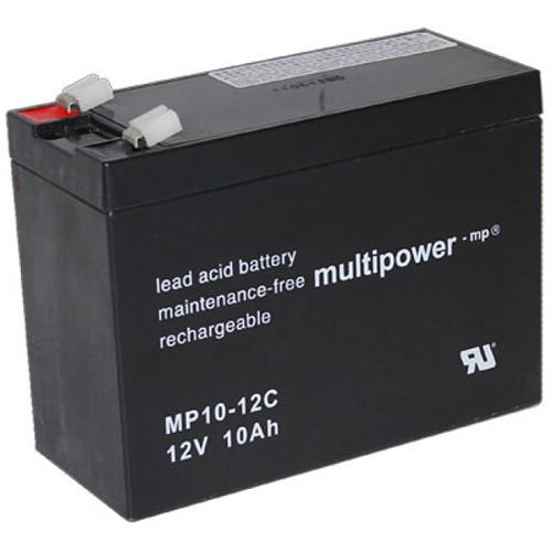MultiPower Bleiakku MP10-12C Zyklen-Type, 12Volt 10Ah mit 6,3mm Steckanschlüssen