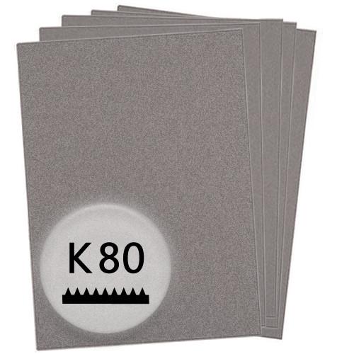 K80 Schleifpapier in 10 Bögen, 230x280mm - für Holz und Lack, Finishing