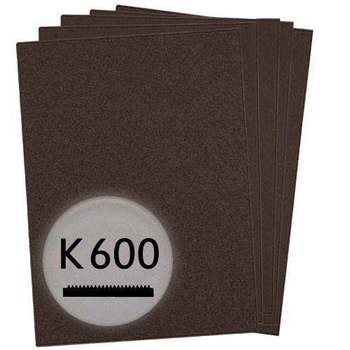 K600 Schleifpapier in 50 Bögen, 230x280mm - für Lack und Auto, wasserfest