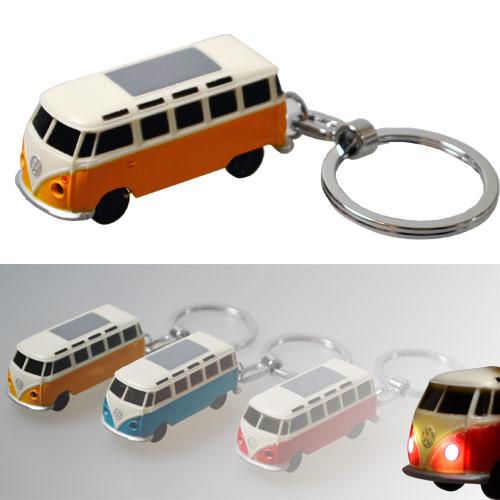 VW Bulli LED-Schlüsselanhänger Volkswagen Typ1 (1962) in orange