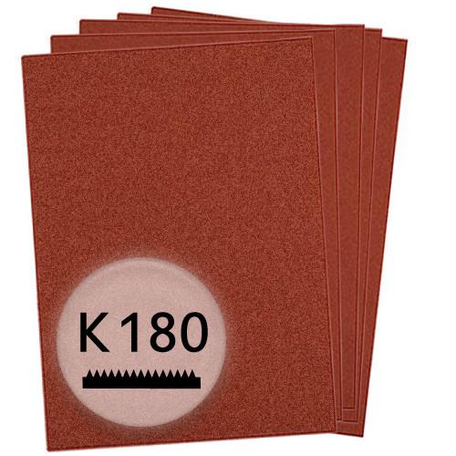 K180 Schleifpapier in 10 Bögen, 230x280mm - für Holz und Metall