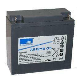 EXIDE Sonneschein Bleiakku Dryfit A512/16G5 12,0Volt 16,0Ah mit M5 Schraubanschluss