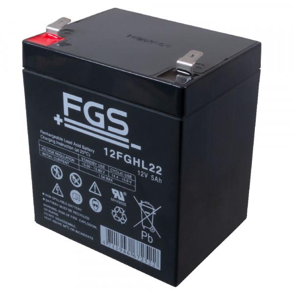 FGS Hochstrom-Akku AGM 12V/5Ah 12FGH23 (hochstromfest)