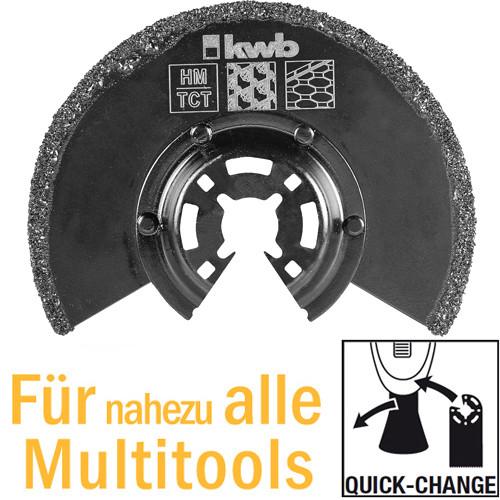 Halbrundes Tauchsägeblatt HM, Ø 87mm für Multitools, mit Quick-Change