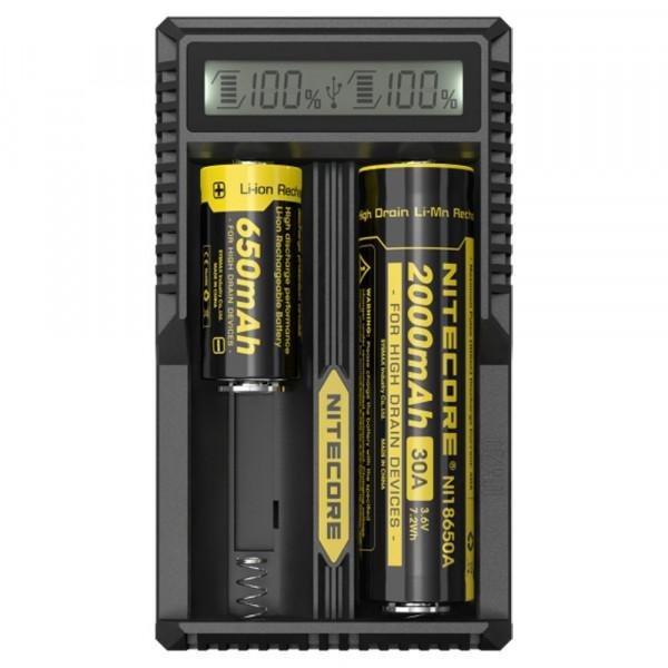 NiteCore UM20 USB-Ladegerät für 18650, 18490, 18350, 17670, 17500, 16340, 14500, 10440 Akkus