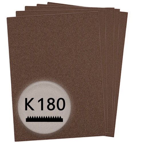 K180 Schleifpapier in 50 Bögen, 230x280mm - für Metall und Stahl