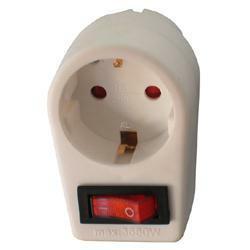 Arcas 1-fach Steckdose mit Schalter mit Kindersicherung, Farbe: Weiss
