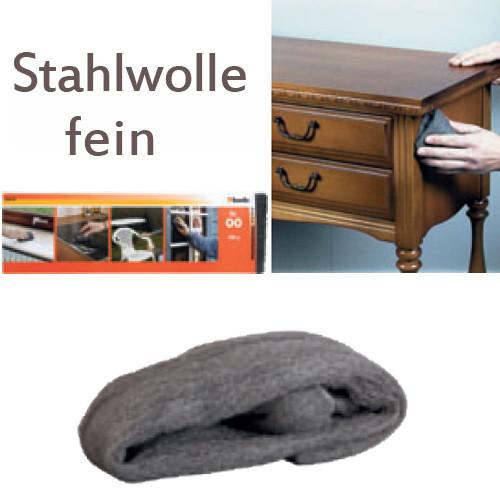 Feine Stahlwolle Nr. 00, 200g - für Metall und Holz