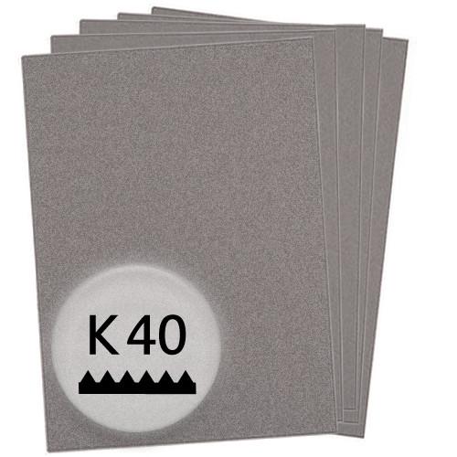 K40 Schleifpapier in 10 Bögen, 230x280mm - für Holz und Lack, Finishing