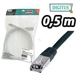 DIGITUS SF/UTP Patchkabel, Kat. 5e, 0,5m, schwarz