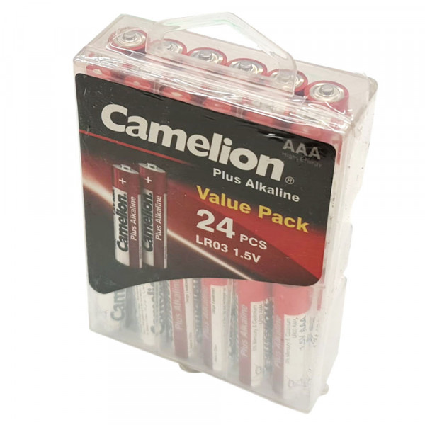 AAA Camelion Alkaline Plus Micro LR03 Batterien 1,5Volt AlMn - 24er Box