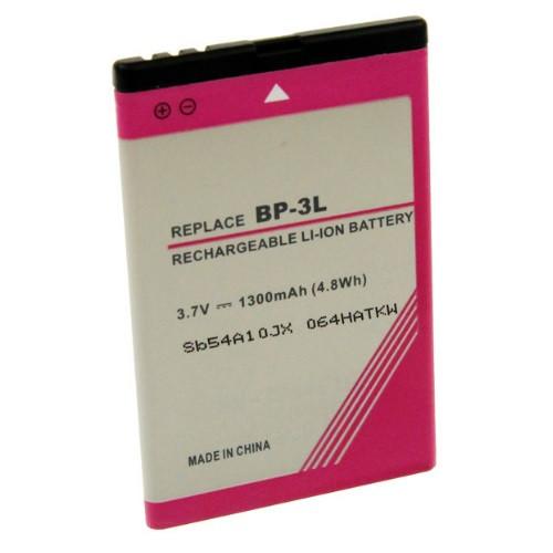 Akku passend für Nokia BP-3L 3,7Volt 1.300mAh Li-Ion (kein Original)