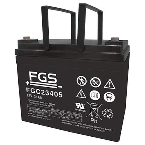 FGS Bleiakku FGC23405 Zyklen-Type 12,0 Volt 34 Ah mit M5-Schraubanschlüssen